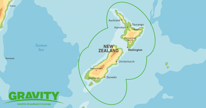 Gravity Satellite Broadband Coverage Map NZ